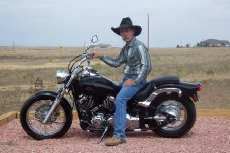 Cowboy on a Yamaha V Star