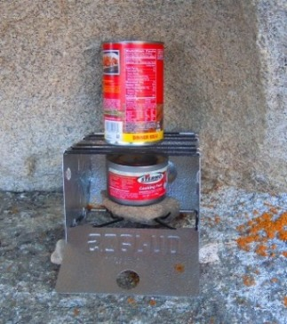 sterno stove in City of Rocks