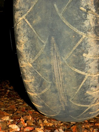 Failed Metzler 210 Motorcycle Tire