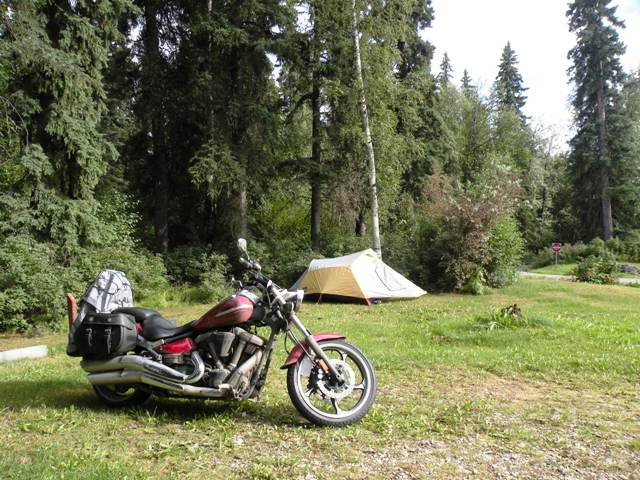 Road Star Raider camped in Alaska