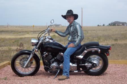 Cowboy on a Yamaha V Star