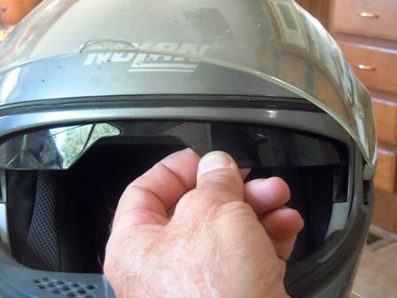Failed Nolan Motorcycle Visor Mechanism