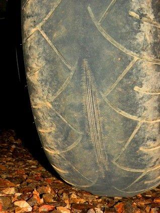 Failed Metzler 210 Motorcycle Tire