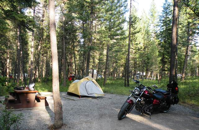 Road Star Raider camped in British Columbia